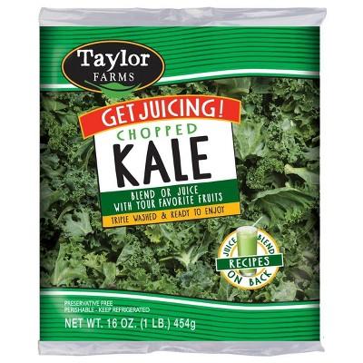 Taylor Farms Chopped Kale Juicing Greens - 16oz