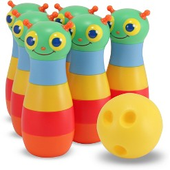 Melissa & Doug Sunny Patch Happy Giddy Bowling Set With 6 Pins, Bowling Ball & Storage Bag