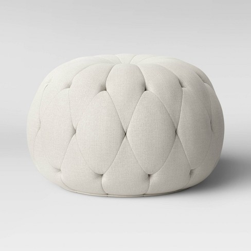 Annandale Round Tufted Pouf - Threshold™ - image 1 of 4