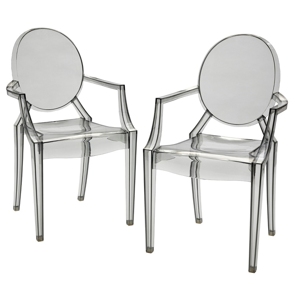 Set of 2 Castle Hill Arm Chairs Gray - Buylateral was $149.99 now $97.49 (35.0% off)