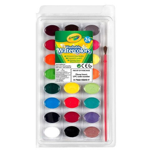 crayola watercolor paints with brush washable 24ct target