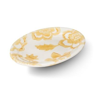 Floral Ceramic Soap Dish Yellow - Threshold™