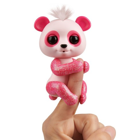 Fingerlings - Interactive Baby Panda - Polly (Pink) By WowWee - image 1 of 7