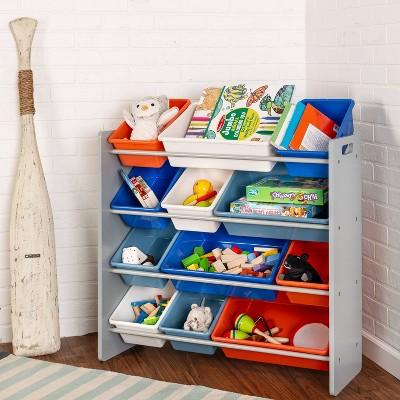 Honey-Can-Do 12 Bins Kids' Storage Organizer Gray