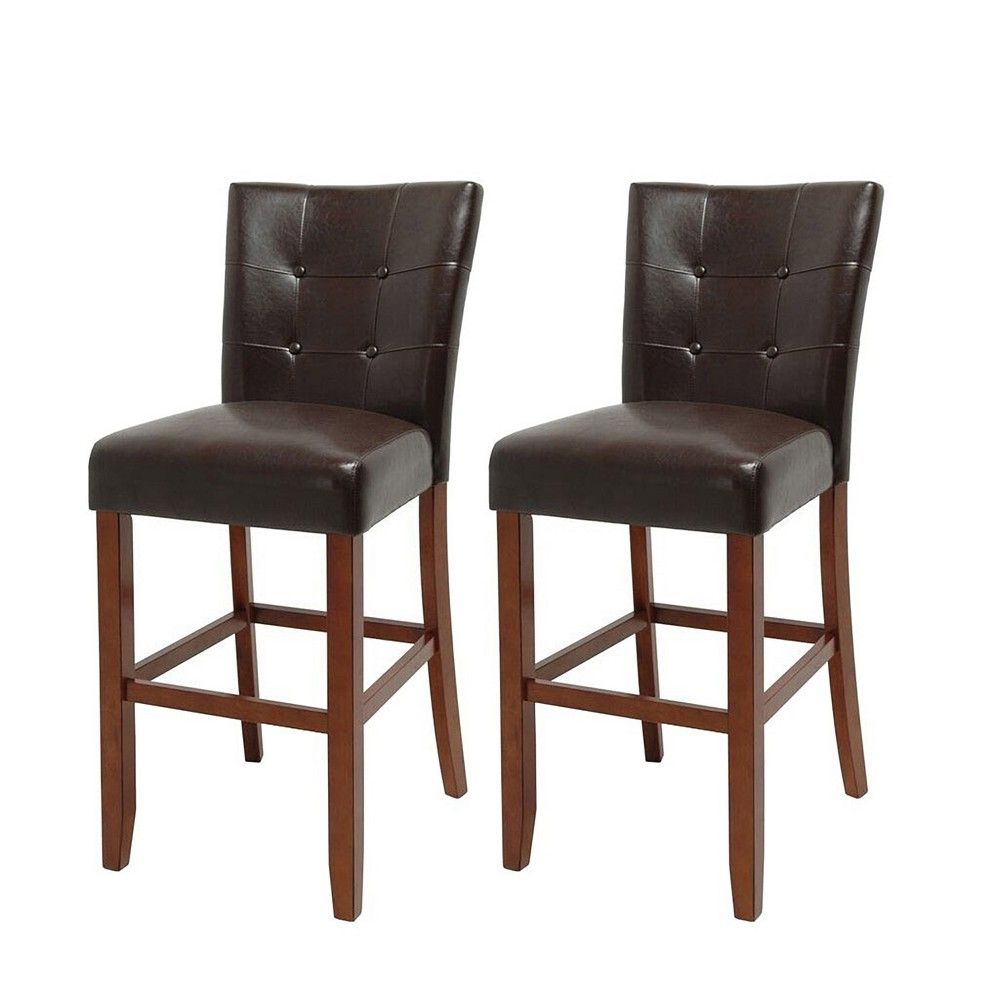 Fergus Bar Chair Cherry (Red) (Set of 2) - Steve Silver