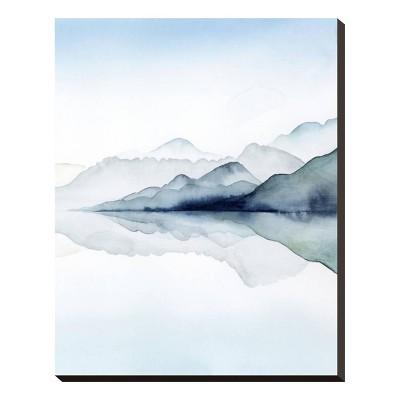 Glacial II Stretched Canvas Print 20x25 - Art.com