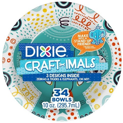 Dixie Craftimals Disposable Bowl - 34ct/10oz - image 1 of 4