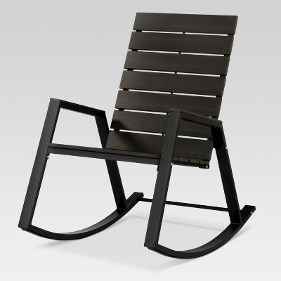 & Bryant Faux Wood Patio Rocking Chair Black - Project 62™ : Target