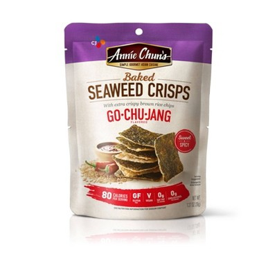 Annie Chuns Roasted Seaweed Snacks Seaweed Chips Gochujang 1.27oz