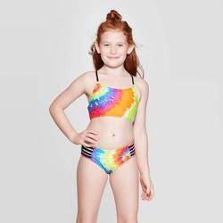 Girls' Tie Dye Splash Bikini Set - art class™ Black