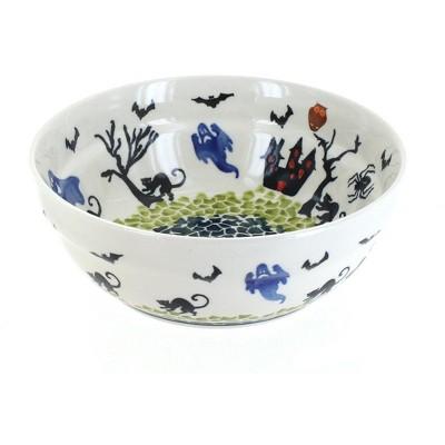 Blue Rose Polish Pottery Monster Mash Cereal/Soup Bowl