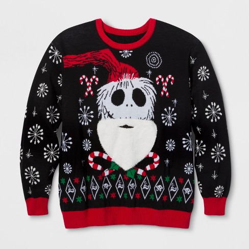 Big And Tall Ugly Christmas Sweater.Men S Big Tall Ugly Holiday Nightmare Before Christmas Sweater Ravenwood Black