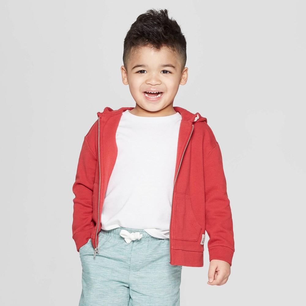 Toddler Boys' Ears Zip-Up Sweatshirt - art class Red 3T
