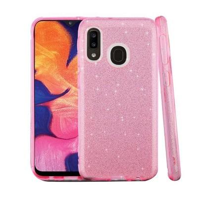 ASMYNA Pink Hard TPU Hybrid Glitter Case For Samsung Galaxy