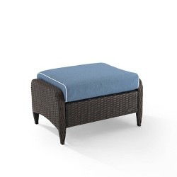 Kiawah Outdoor Wicker Ottoman - Crosley
