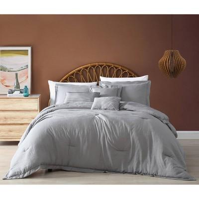Robbie 6pc Enzyme Washed Comforter Set  - Geneva Home Fashion