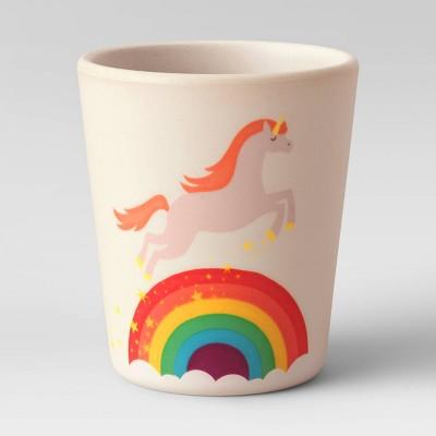 10oz Bamboo and Melamine Unicorn Kids Cup - Pillowfort™