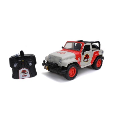 Jada Toys Hollywood Rides Jurassic Park Jeep Wrangler - 1:16 Scale Radio Control Vehicle