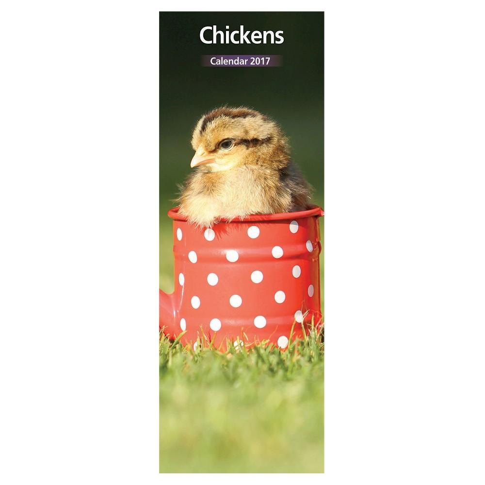 Chicken 2017 12 Month Slim Calendar