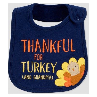 Babys' Thanksgiving Thankful Bib - Just One You® made by carter's Blue One Size