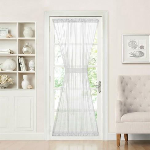 GoodGram Batiste Sheer French Door Curtain Panel W/ Tieback - image 1 of 1