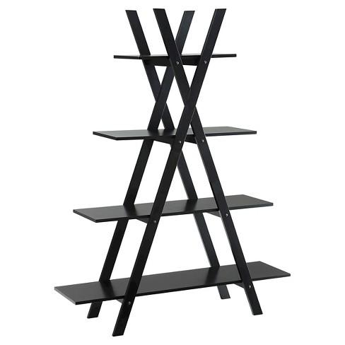59 Oxford A Frame Bookshelf Black Johar Furniture Target
