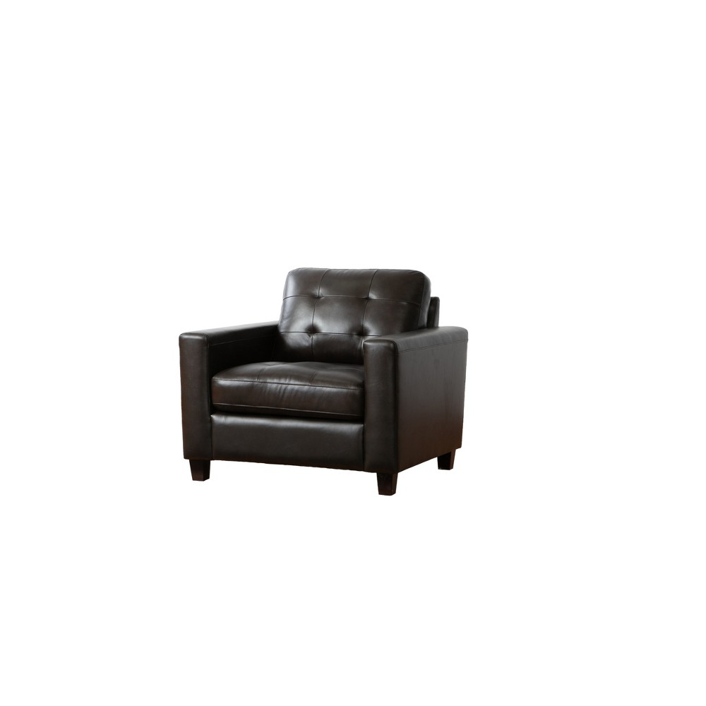 Prime Libson Top Grain Leather Armchair Brown Abbyson Living Onthecornerstone Fun Painted Chair Ideas Images Onthecornerstoneorg
