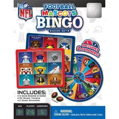 NFL Mascot Bingo Game