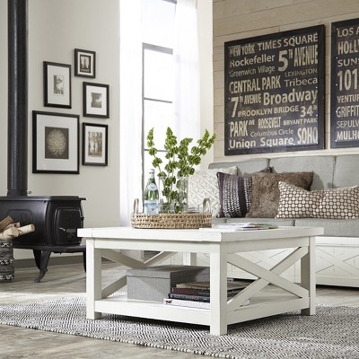 Seaside Lodge Coffee Table - White - Home Styles