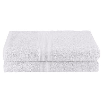 Eco-Friendly Ringspun Cotton Modern Absorbent 2-Piece Bath Sheet Set - Blue Nile Mills