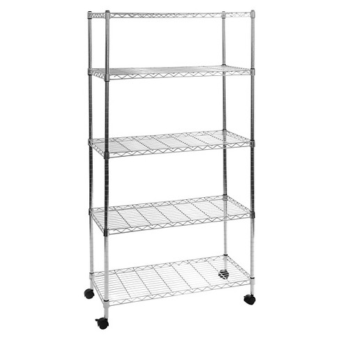 "Seville Classics 5-Shelf Home-Style UltraZinc Steel Wire Shelving (30""x14""x60"") - image 1 of 5"