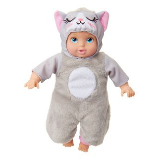 "Perfectly Cute My Lil' Deluxe Baby 8"" Baby Doll Cat - Blue Eyes"