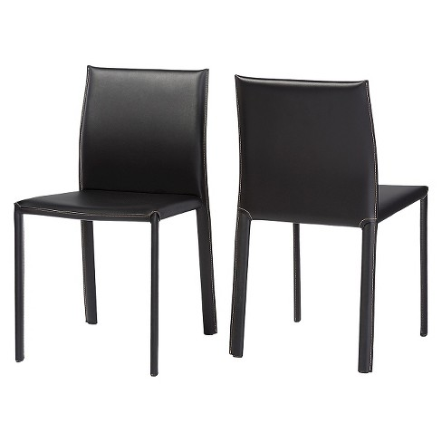 Burridge Leather Dining Chair (Set Of 2) - Baxton Studio - image 1 of 1