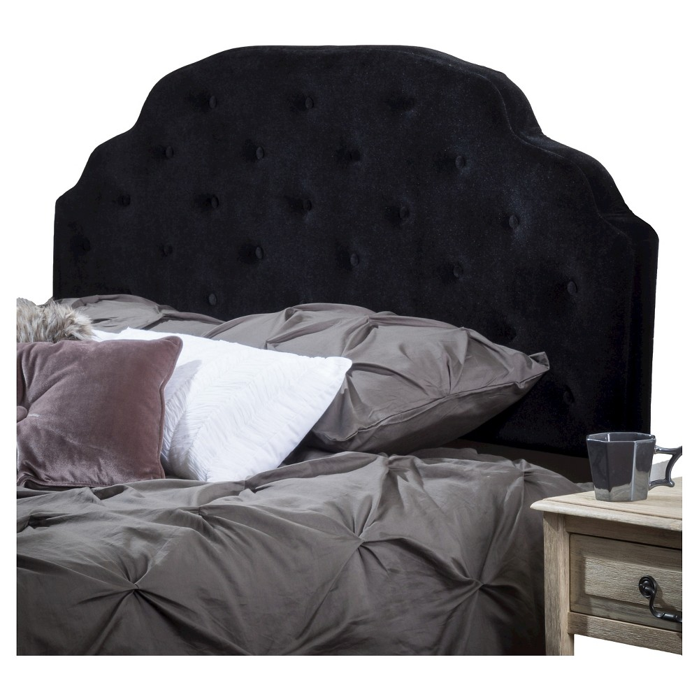 Allyson Button Tufted Full/Queen Headboard - Christopher Knight Home, Black