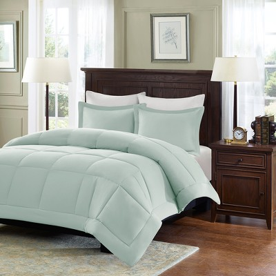 Seafoam Blue Belford Microcell Down Alternative Comforter Set Set Full/Queen 3pc