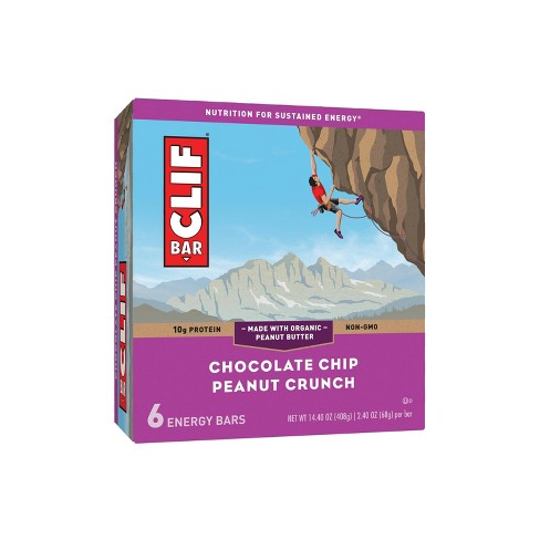 CLIF Bar Chocolate Chip Peanut Crunch Energy Bars - 6ct - image 1 of 4