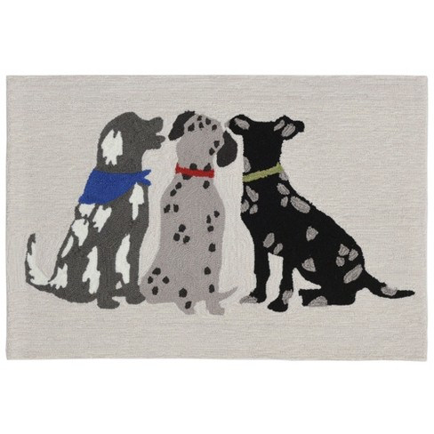Frontporch Three Dogs Accent Rug Liora Manne