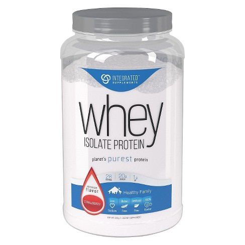Integrated Supplements Whey Isolate Protein Powder - Strawberry - 1.85lb - image 1 of 3