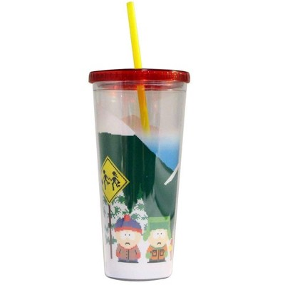 Just Funky South Park 24oz Plastic Carnival Cup w/ Lid & Straw