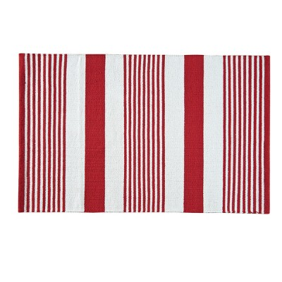 2'x3' Rectangle Indoor and Outdoor Stripe Accent Rug Multicolored - C&F Home