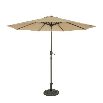 9' Trinidad II Market Patio Umbrella Champagne - Island Umbrella