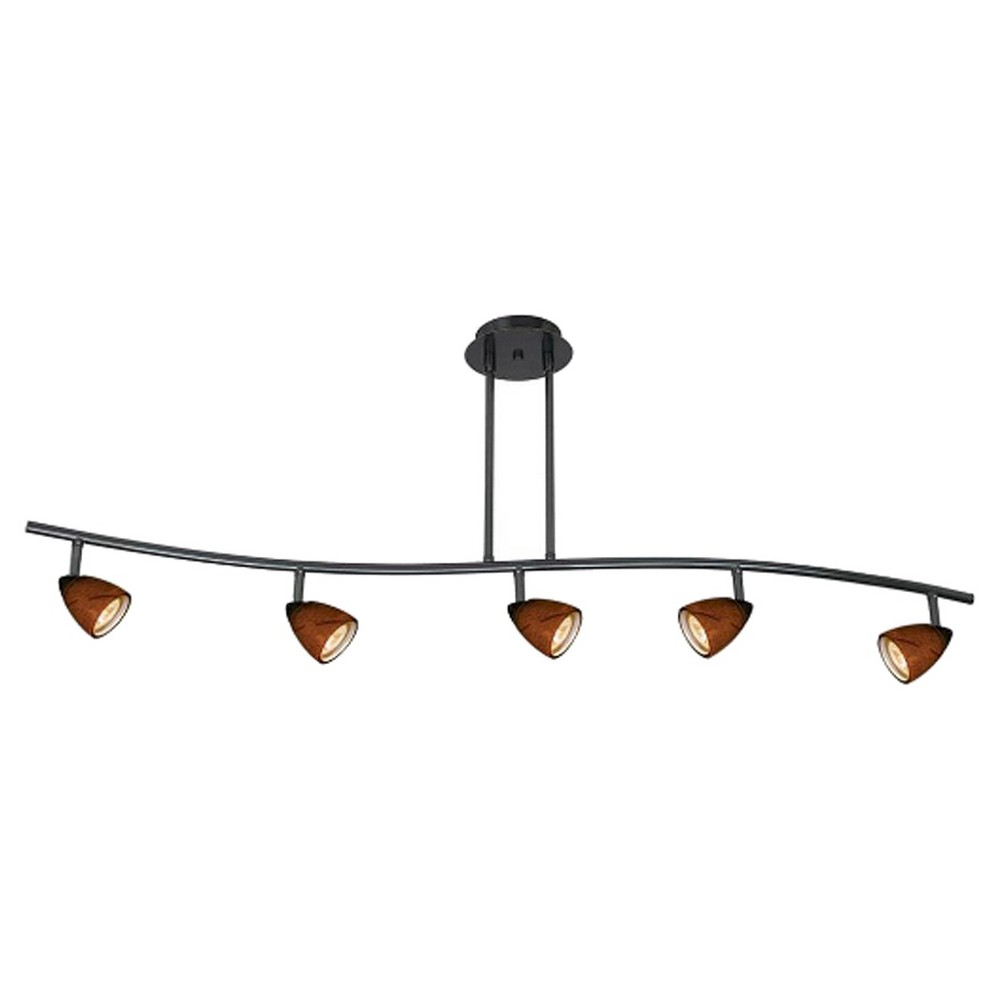 Cal Lighting Metal Black finish Serpentine Pendant with 5 Adjustable heads