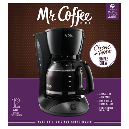 Mr Coffee 12 Cup Switch Coffee Maker Black Dw13 Rb Target