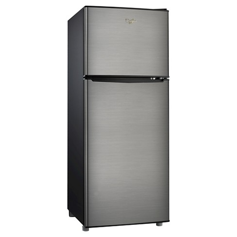 whirlpool 4 6 cu ft compact refrigerator stainless steel bcd