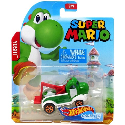 Hot Wheels Super Mario Yoshi Diecast Car 3 7 Target