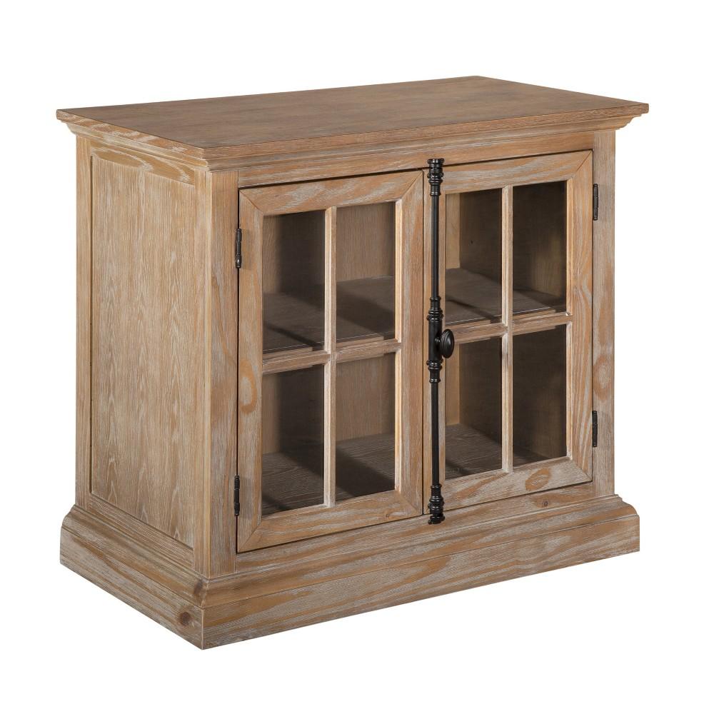 Elmhurst 2 Door Sideboard Serving Cabinet Antique Wood - Finch, Antiqued Wood