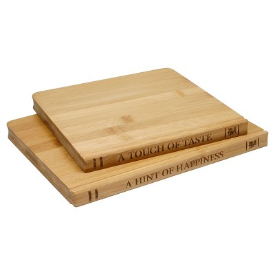 Sabatier Library 2 Pack Bamboo Cutting Board Set