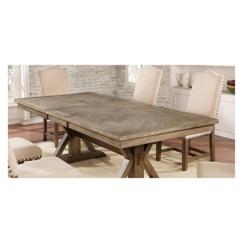Iohomes Jellison Transitional Expandable Dining Table Light Oak Homes Inside Out
