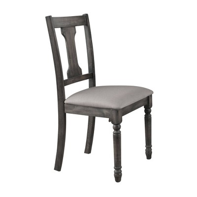 Set of 2 Wallace Side Dining Chair Weathered Blue Washed - Acme Furniture