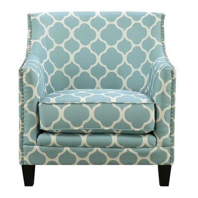 Lovely Deena Accent Chair Aqua Blue   Picket House Furnishings